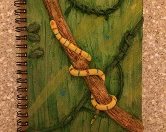 Hand painted clay sketchbook