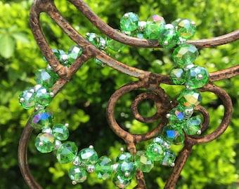 Shimmering Green Stretch Bracelet| Med| M