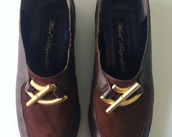 Karl Lagerfeld, leather loafers