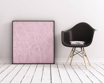 Swimming Pool Art, Abstract Photographic Print, Pink Wall Art - Pink Water
