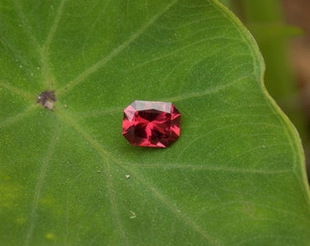 Stunning raspberry garnet .85 ct 6x4.75x3.5 mm