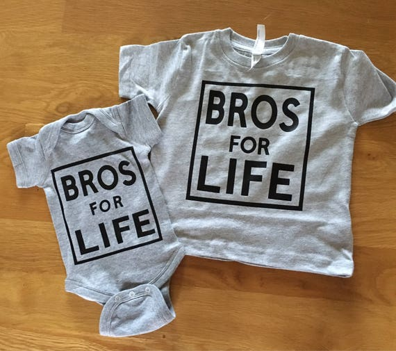Bros for life graphic t shirt, Big brother shirt, big bro shirt, new baby sibling shirt, little bro shirt, brother shirts, Bros for life