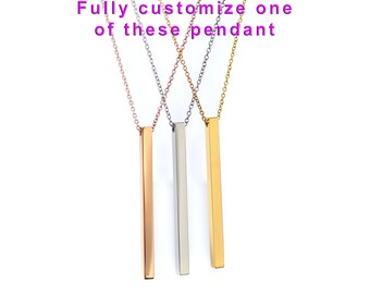 Pendants etsy create your personalized mantra phrase further design customize your dolceoro pendant necklace 316l aloadofball Gallery