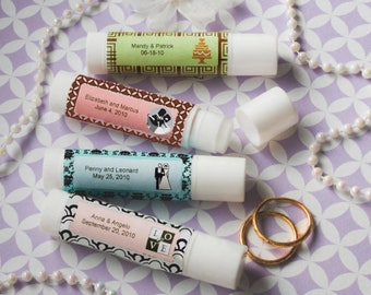 40 Personalized Lip Balm Favors - Set of 40