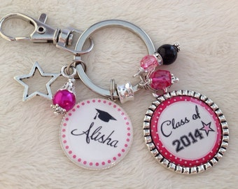 Graduation key chain, Personalized, Graduate, Graduation gift, necklace, Grad, Commencement, Convocation, Class of 2017 or ANY YEAR