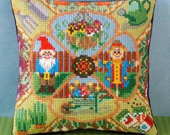 The Gardener Mini Cushion Cross Stitch Kit