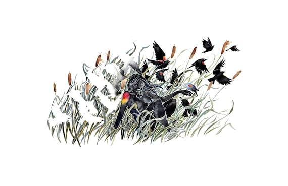 Ending Winter -giclee PRINT of original watercolor painting -