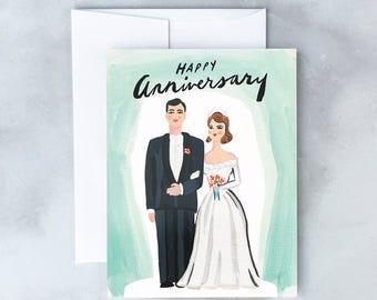 Vintage Anniversary Greeting Card