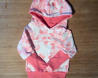 Rose pink scalable Hoodie