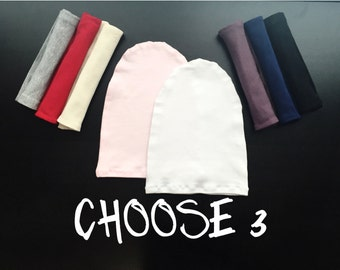 Choose Any 3 Slouchy Baby Beanies