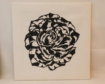 Black Rose Canvas