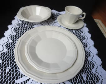 Vintage White Homer Laughlin Place Setting 5 Piece
