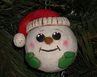 CHRISTMAS SNOWMAN Tree ornament, Winter Trinkets, Snowman Ornament Gift, Keepsake, Collectible