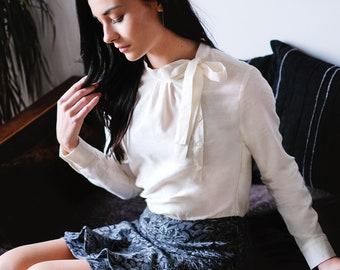 shirt dress, bi-material dress, chic dress, elegant dress, sophisticated dress, dress organic cotton, dress en natural fabric, eco-friendly