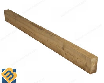 Timber Sleepers Railway Sleepers Treated Wooden Sleepers 200x100mm & 250x125mm