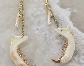 Jaw And Bone Earrings