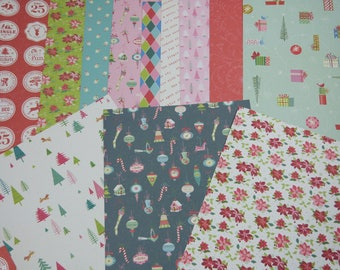 Assortment of paper for scrapbooking, Christmas sweet fantasy