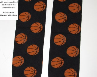 BASKETBALL baby leg warmers.  Great for babies, toddlers, and young kids
