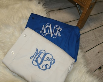 set of 6 bridesmaid shirts, monogrammed button downs, oxford shirts, monogrammed shirts, bridesmaid gift