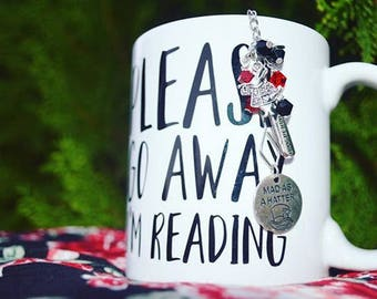 Book Lover Mug, Bookworm Mug, Bookstagram Mug, Please Go Away I'm Reading, Bookish Mug, Book Lover Gifts, Reader Gifts, Funny Book Lover