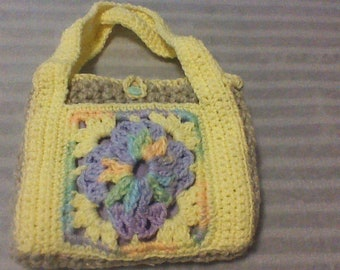 Gehaakte handtas/Lined portemonnee/Pasen koppeling perfect voor de lente/past over de schouder en perfect onder de arm.