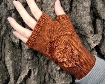 Pdf knitting pattern for feminine, nature-inspired, women's gloves