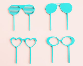 California Sun Glasses Cupcake Toppers, Laser Cut, Acrylic, 6 Ct.