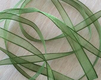 Green chiffon Ribbon 299 light and translucent