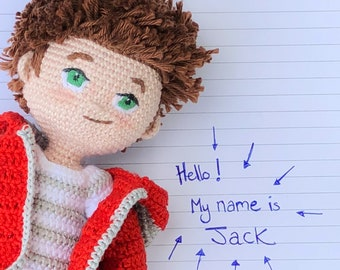 Jack - Crochet Amigurumi Boy Doll Pattern -  PDF download