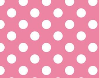 Hot Pink Medium Dots Fabric by Riley Blake Designs - by the Yard - 1 Yard