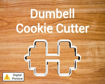 "4"" Dumbell Cookie Cutter (Object Set)"