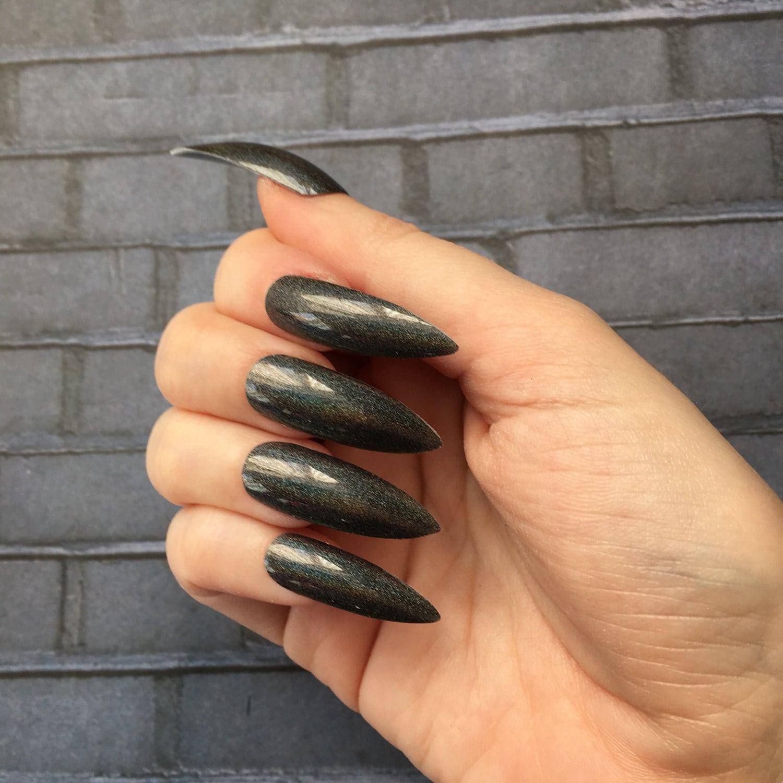 Fine Short Stiletto Nails Press On Elaboration - Nail Art Ideas ...