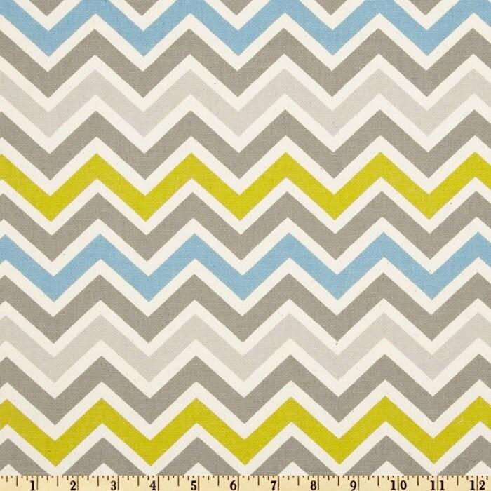 Yellow Green Chevron fabric Premier Prints Zigzag Summerland village ...