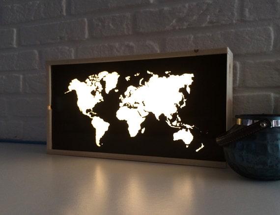 World map light box globe light box lighted world map gumiabroncs Gallery
