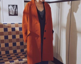 La Chic Parisienne Collection orange coat