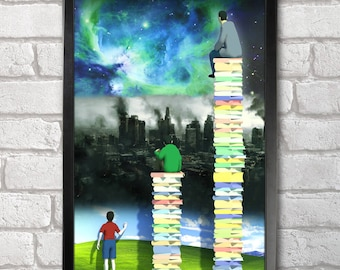 Read Books print + 3 for 2 offer! size A3+  33 x 48 cm;  13 x 19 in