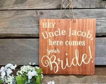 BRIDAL BLISS! - Wedding Ring Bearer Flower Girl Sign