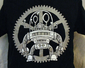 Flywheel Floyd-Screen Printed Robot T-shirt Unisex/Mens
