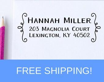 Custom Return Address Stamp, Address Stamp, Self Inking Address Stamp, Christmas Gift, Holiday Gift, Housewarming Gift  (D313)
