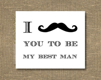 I Mustache You To Be My Best Man Greeting Card