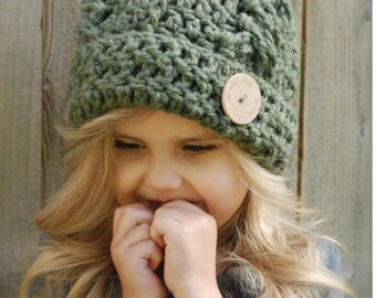 Crochet PATTERN-The Blayke Hat (Toddler, Child, Adult sizes)