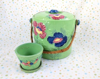 Moriyama Biscuit/Cookie Jar and Planter - Made in Japan