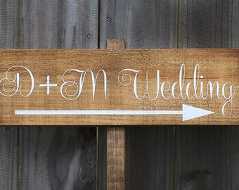 Wooden Wedding Signs, Wedding Sign, Rustic Wedding Sign, Wood Wedding Sign, Wedding Signs, Wedding Decor - WS-50