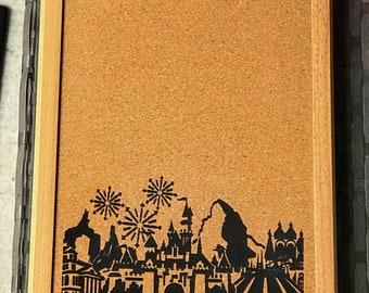 Disneyland Inspired Framed Cork Board