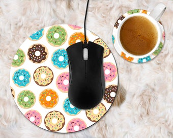 Donut Mouse Pad, donut office accessories, donut home decor, doughnut mouse pad, doughnut office accessories, doughnut home decor, donuts