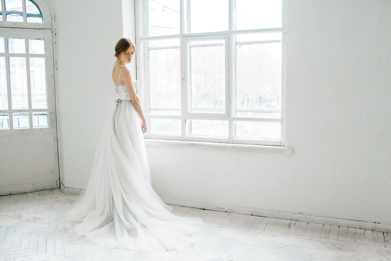 Korsett Hochzeitskleid / / Ivy / Tüll Hochzeit Kleid Korsett