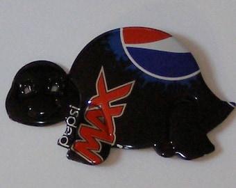 Turtle Magnet - Pepsi MAX Cola Soda Can (Replica)