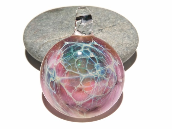 Star Burst Pendant - Blown Glass Pendant - Flameworked Focal Bead - Free Shipping - Artist Direct - Vibrant and glossy smooth!