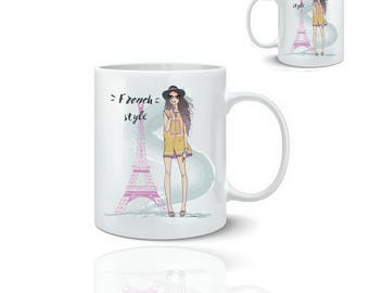 Style french mug - mug 325 ml ceramic