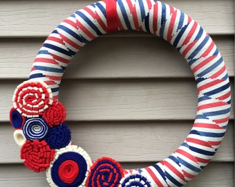 4th of July Wreath - Patriotic Wreath - Country Wreath - July 4th Wreath - American Wreath - Independence Day Wreath - Americana Wreath